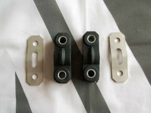 MGTF MG TF Pair Exhaust Hanger Rubbers /& Stainless Hanger Plates mgmanialtd.com