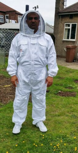 Beekeepers suit Beekeeping Bee Suit with Fencing Veil including Bee Gloves-SMALL