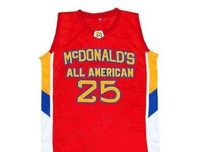DERRICK ROSE MCDONALD/'S ALL AMERICAN BASKETBALL JERSEY MCDONALD SEWN ANY SIZE