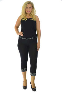 Femmes Grande Taille Leggings À Pois Impression Attacher B: Et Tondu