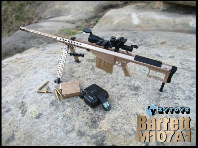 ZY-8028A 1/6 Scale M107A1 Barrett Sniper Rifle Set Fits for 12