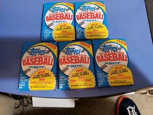 Five Unopened 1989 Topps Baseball Card Wax Packs