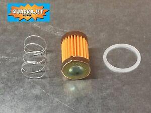 Quadrajet short fuel filter with check valve Quadrajet Power