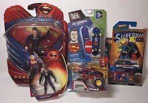Superman-Collectors-Bundle-Hot-Wheels-Tech-Deck-Action-Figures