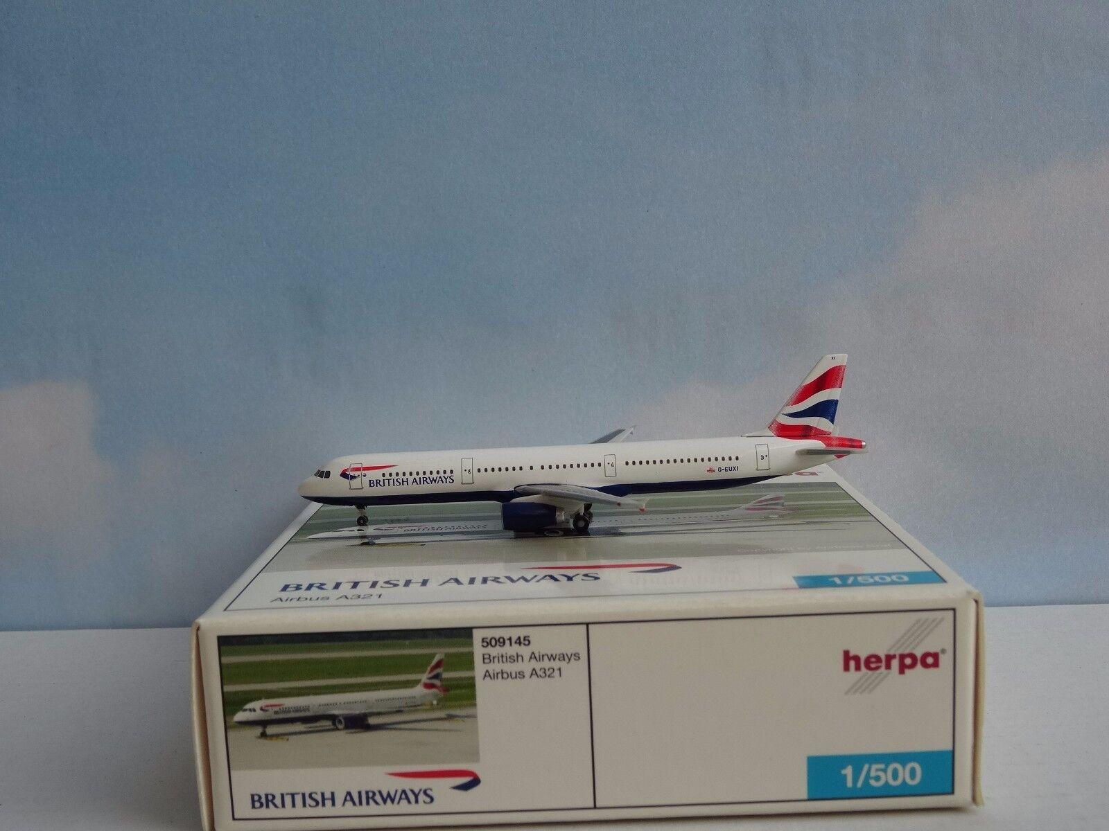 Herpa Wings 1 500 airbus a321 british airways (Art. no no no 509145) 0b272d