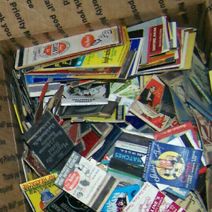 Fun-Lot-100-Mixed-Vintage-Matchbook-Covers-1930s-to-70s-Various-Variety-Bag
