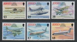 Jersey-2003-Aviation-Histoire-Alimente-Vol-8th-Series-Ensemble-MNH-Sg