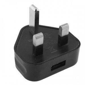 NERA-3-pin-1000ma-USB-Adattatore-di-alimentazione-caricabatterie-UK-Presa-a-muro