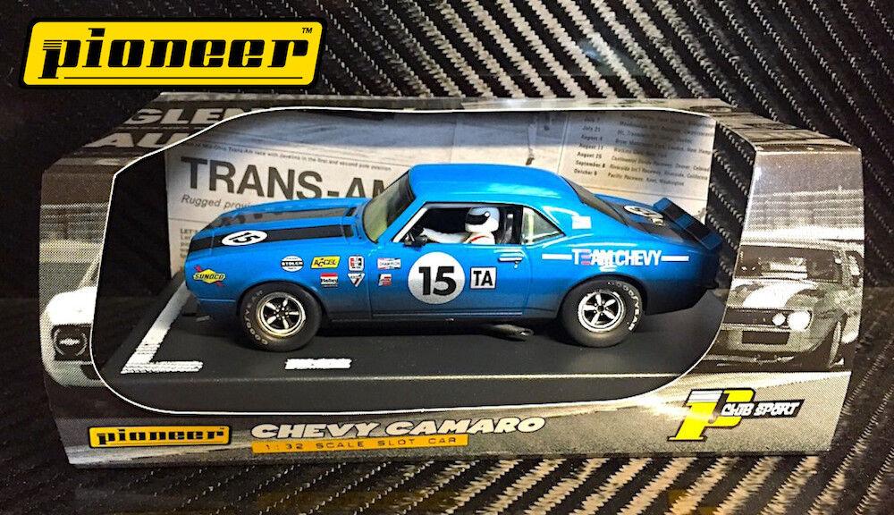 PIONEER SLOT CAR P045 1968 'TEAM CHEVY' blueE '12 HOUR ENDURO RACER'