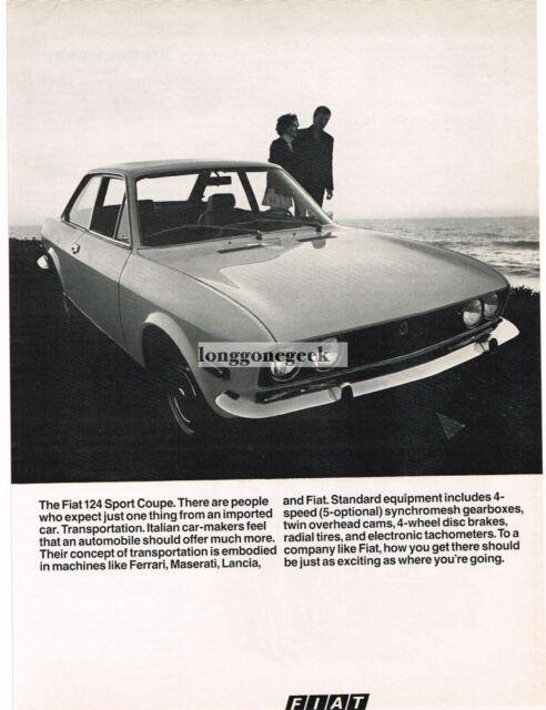 1970 Fiat 124 Sport Coupe Vtg Print Ad