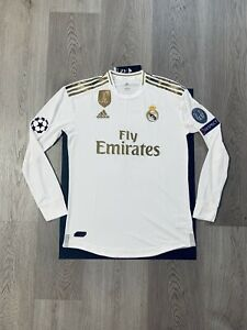 brand new d93e0 d14de Details about Sergio Ramos Soccer Jersey Long Sleeve Player Version Real  Madrid Home Small