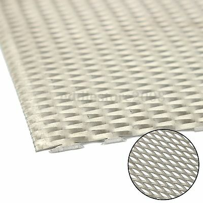 300mm x 200mm x 1mm Titanium Metal Mesh Sheet Perforated Diamond Type Hole Plate