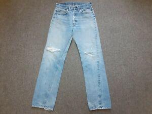 Vintage 70s Levis 501 Orillo Redline 6 Botones De Jean Pantalones De Tela Vaquera Envejecida 30 X 32 Ebay