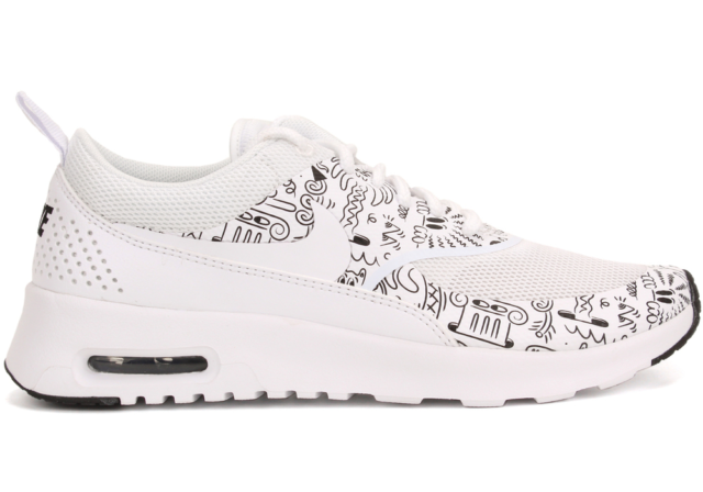 online store 40a09 1aa14 NIKE Air Max Thea Print Comic LTD Sneaker Sport Shoes Trainers white 599408  103