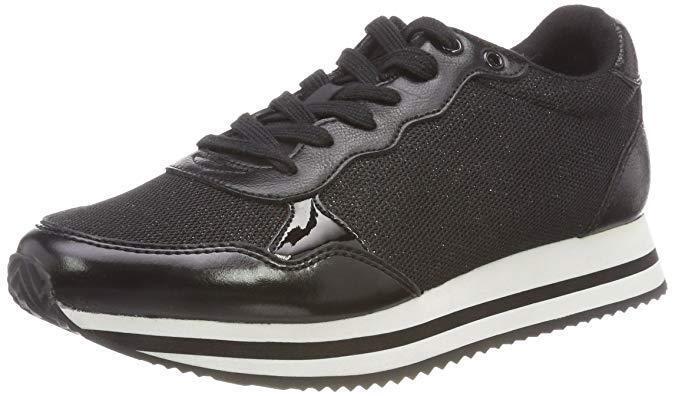 ALDO ULERIN SIZE 4 OR 5 BLACK WEISS WEDGE TRAINERS SNEAKERS TRAINING Schuhe BNWB