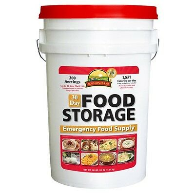Augason Farms 30 Day Food Storage Emergency Supply Survival Bucket 300 Servings