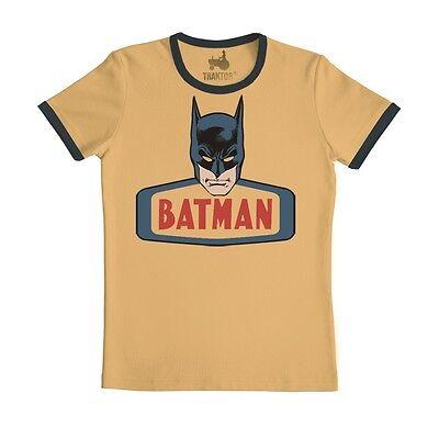 Batman T-Shirt - Face - Comic Shirt -beige- Original T-Shirt der Marke TRAKTOR®