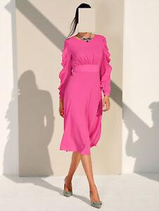 Marken 42 Arm Kleid Mit Rüschen Am 1118801361 40 Gr Pink rZBqr8n1