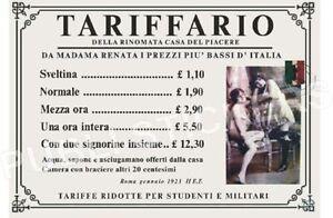 TARGA-VINTAGE-1923-CASA-DI-TOLLERANZA-034-TARIFFARIO-034-IMMAGINE-RESTAURATA-BROTHEL