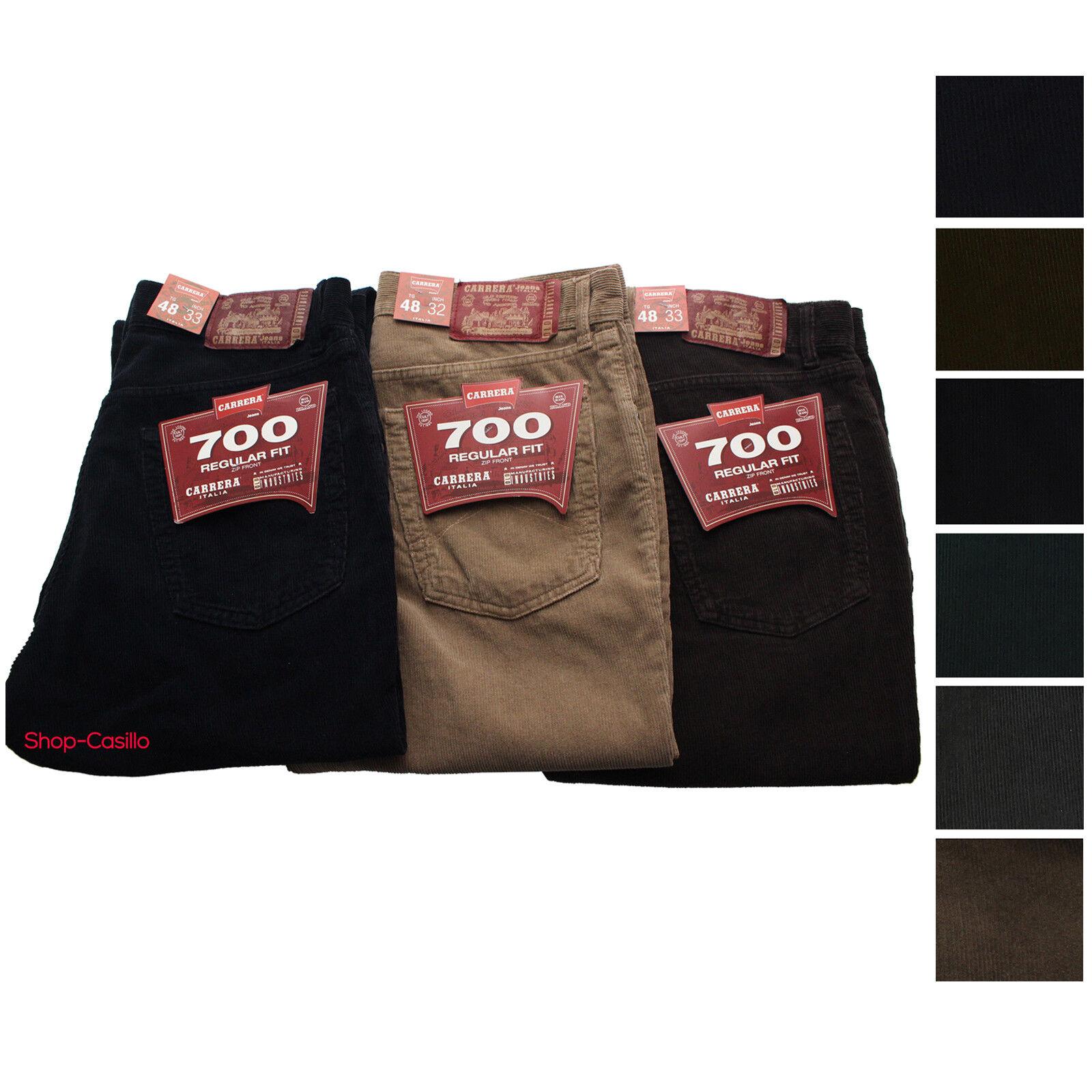 Velluto Pantalone Carrera 700 Jeans men Cinque Tasche colorato Millerighe 46 62