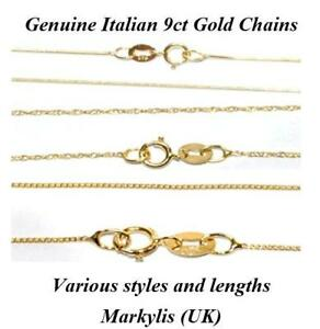 GENUINE-9ct-GOLD-FINE-NECKLACE-CHAIN-VARIOUS-STYLES-AND-LENGTHS-AVAILABLE