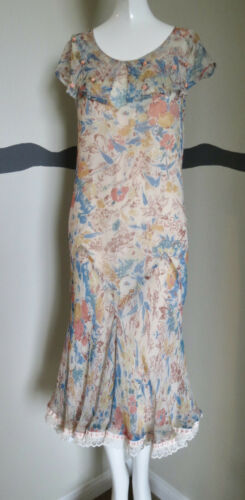 Vintage 1930s Dress Silk Chiffon