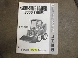 Details about Gehl HL3000 HL 3000 skid loader parts manual