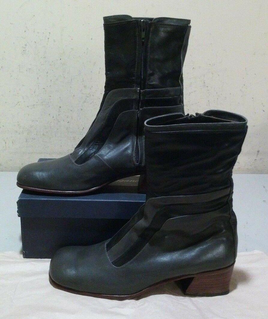 New French Shriner Dress Boot 10 D black grey (712)