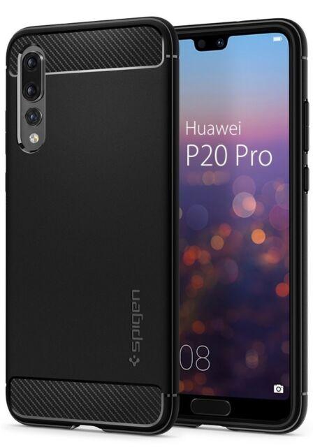 Coque Huawei P20 PROResistant, Anti-Choc [Noir] Fibre de Carbone, Coque Etui