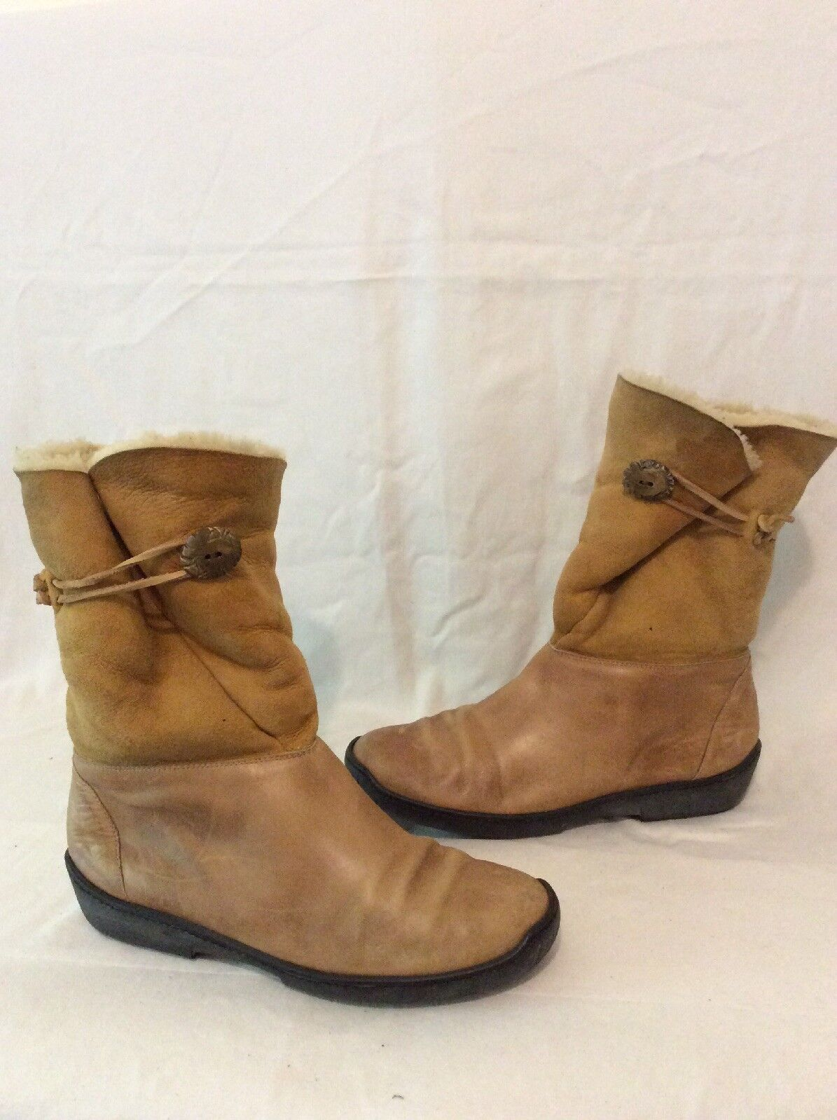 Ralph Lauren Brown Mid Calf Leather Boots Size 40