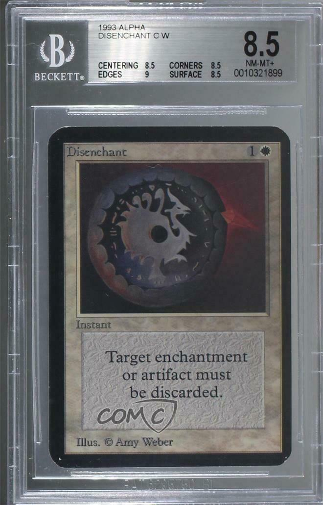 1993 Magic  The Gathering - Core Set  Alpha  DISE Disenchant BGS 8.5 NM-MT+ 1p6