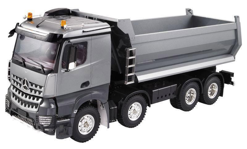 Hercules Modelo 4 Ejes Metal 1 14 RC camión U Tipo Volquete Kit de montaje Coche Kit-E