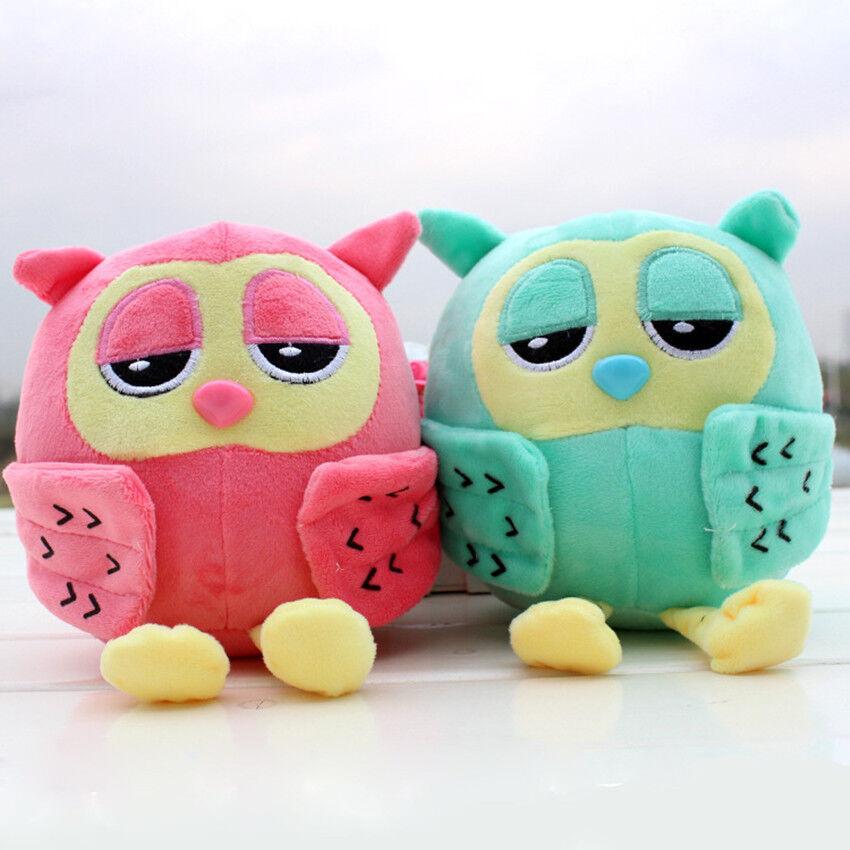 2pcs Super Cute Owl Plush Toy Animal Soft Stuffed Plush Baby