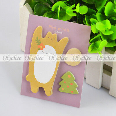 New Bird Tree Bear Sticker Post It Bookmark Marker Memo Flag Sticky Notes