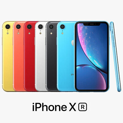 Apple iPhone XR Locked AT&T White Black Coral Blue Red 64GB 128GB 256GB  Grade A   eBay