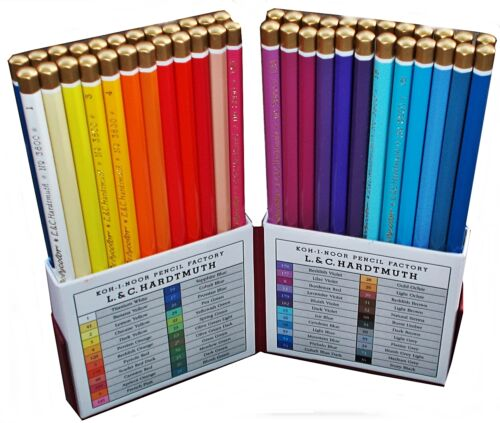 Coloured pencils POLYCOLOR 48 0R 72 COLOURS KOH-I-NOOR 3827 OR 3826 RETRO