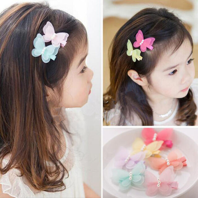 10x Baby Girls Hairpin 4cm BB Clips Snap Hairpins Toddler Kids Hair Accessory DS
