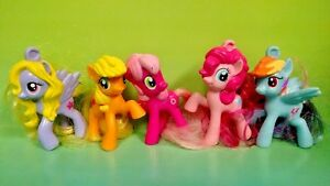 5-G4-My-Little-Pony-MLP-Brushable-2-034-Inch-Rare-Horse-Bundle-Mini-Ponies-Unicorn