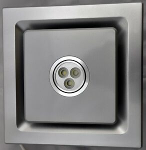 Bathroom Exhaust Fan SILENT SERIES , 85 CFM, LED LIGHT ...