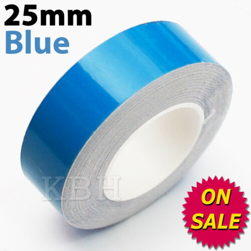 """1/"""" Pin Stripe Pinstriping Solid Line Tape Vinyl Decal Sticker Car 25mm Blue"""