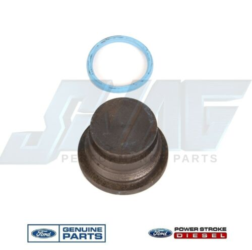 Oil Gallery Plug /& Seal 4C3Z-6026-CA 94.5-03 Ford 7.3 7.3L Oil Supply Rail End