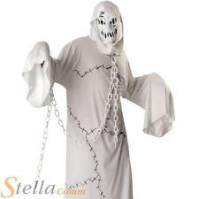 Hommes Blanc Cool Ghoul Fantôme Halloween Déguisement Costume Pour Adultes