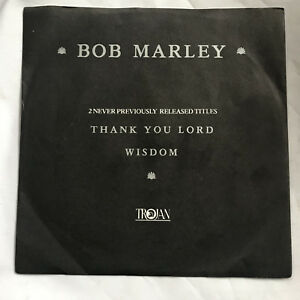 BOB-MARLEY-45-Thank-You-Lord-Wisdom-7-034-Vinyl-Record-RARE-TROJAN