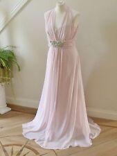 BNWT Designer No.1 Jenny Packham Pale Pink Chiffon  Maxi Dress size 18-RRP£150