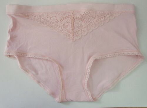 M /& S size 10 Pink Knickers Panties Briefs cotton /& Modal Mid Rise