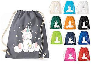 Jute Cotton Bag Drawstring Bag Textile Bag Unicrn Cutie