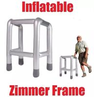 Inflatable Blow Up ZIMMER FRAME Party Hen Stag Night Novelty Fancy Dress Costume