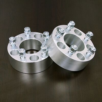 """1.25/"""" Hubcentric Wheel Spacers 5x4.75 to 5x4.75 12x1.5 Studs Black For Chevy"""