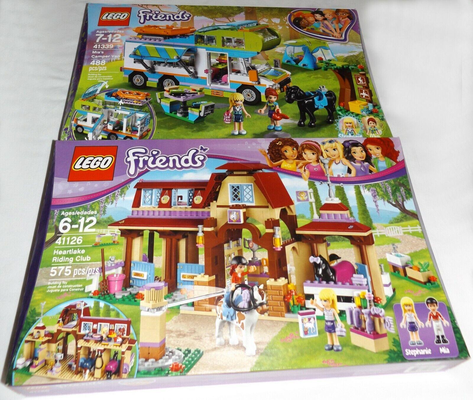 LEGO vänner 41126 Hekonstland Riding Club & 41339 Mia's Camper Van Horse tält