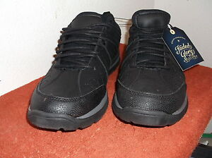 brand new men's faded glory black casual shoes with laces